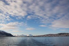 De winter in Tromsoe, Noorwegen Stock Foto