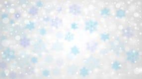 De winter vage achtergrond met dalende sneeuw Stock Foto
