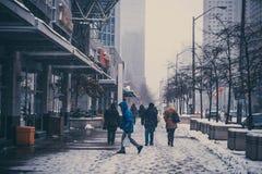 De winter in van de binnenstad toronto Royalty-vrije Stock Fotografie