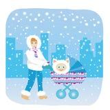 De winter van de moeder Royalty-vrije Stock Afbeeldingen