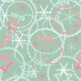 De winter van 2015 de naadloze achtergrond van het Kerstmispatroon Stock Foto