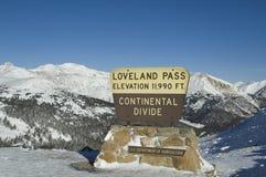 De winter van de Pas van Loveland Stock Foto