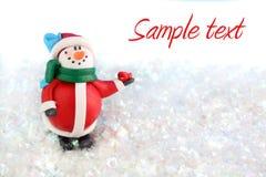 De winter van de sneeuwman Stock Afbeelding