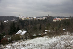 De winter van de stad ââin Stock Foto's
