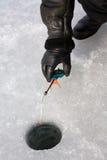 De winter van de visserij stock foto's