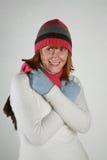 De winter van de vrouw Stock Foto's