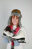 De winter van de vrouw Royalty-vrije Stock Foto