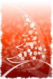 De Winter van Grunge en de achtergrond van Kerstmis vector illustratie