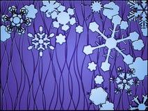 De winter van het gebrandschilderd glas Royalty-vrije Stock Fotografie