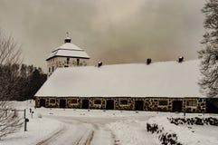 De winter 1 van het Hovdalakasteel Stock Foto