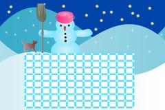 De winter van het schooltijdschema stock illustratie