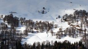 De winter van hierboven Stock Foto