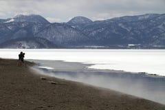 De winter van Hokkaido, Japan royalty-vrije stock afbeelding