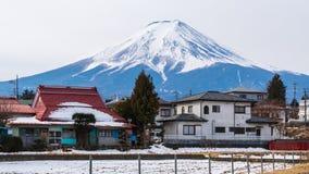 De winter van Kawaguchiko, Fuji-Berg, Japan stock foto's