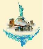 De winter van New York Stock Afbeeldingen
