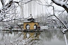 De winter van Shouxi-meer Stock Foto