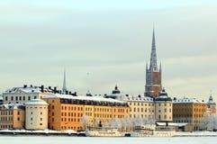 De winter van Stockholm Royalty-vrije Stock Fotografie