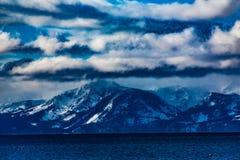 De Winter van Tahoe van het meer stock afbeelding
