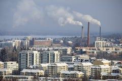 De Winter van Tampere Stock Afbeeldingen