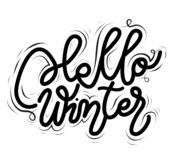 De Winter van tekenhello, pictogram voor uw Web, etiket, dynamisch ontwerp r Vector IL stock illustratie