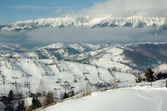 De winter van Transylvanian Stock Fotografie