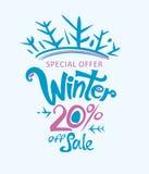 De winter 20% van verkoop Stock Afbeeldingen