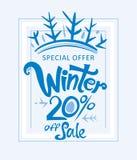 De winter 20% van verkoop Stock Fotografie