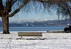 De winter in Vancouver Stock Foto