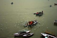 De winter in Varanasi Royalty-vrije Stock Foto