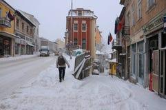 De winter in Veliko Tarnovo Royalty-vrije Stock Foto