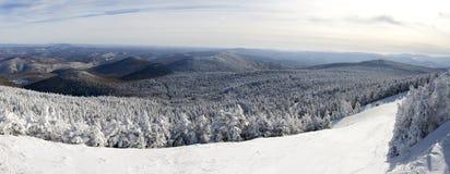 De winter in Vermont stock afbeeldingen