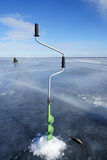 De winter visserij Royalty-vrije Stock Afbeelding