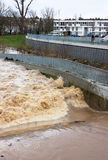 De winter vloed-ii-rivier rem-Waiblingen royalty-vrije stock afbeeldingen