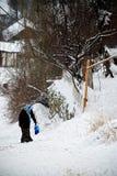 De winter in Voorsteden (Ankara, Turkije) Royalty-vrije Stock Foto's