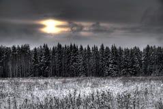 De winter zonsondergang-2 Stock Afbeelding