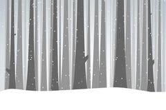 De winter Zwart Bos vector illustratie