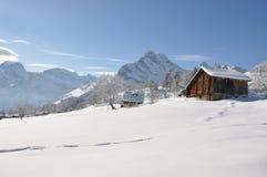 De winter in Zwitserland Royalty-vrije Stock Fotografie