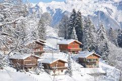 De winter in Zwitserland Stock Fotografie