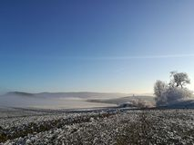 De winteraard in Tsjechische Republiek Royalty-vrije Stock Afbeelding