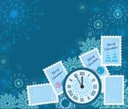 De winterachtergrond Stock Foto