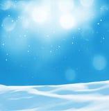 De winterachtergrond Stock Afbeelding