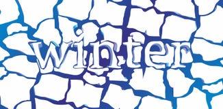 De winterachtergrond royalty-vrije illustratie