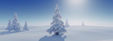 De winterachtergrond Royalty-vrije Stock Afbeeldingen