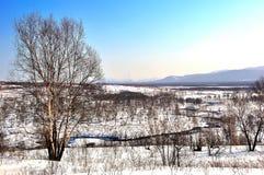 De winterachtergrond, landschap Royalty-vrije Stock Foto