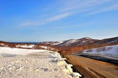De winterachtergrond, landschap Royalty-vrije Stock Afbeeldingen