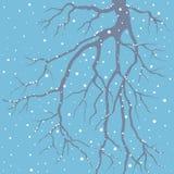 De winterachtergrond met een tak stock illustratie