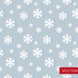 De winterachtergrond met gloeiende sneeuwvlokken groot Royalty-vrije Stock Foto
