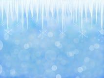 De winterachtergrond met ijskegel vector illustratie