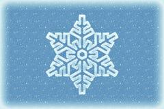 De winterachtergrond met sneeuwvlok stock foto's