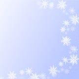 De winterachtergrond met sneeuwvlokken voor gebruik in uw vector illustratie